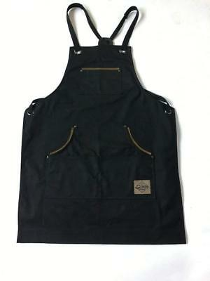 Mens Shop Work Aprons with Pockets - Heavy Duty Waxed Canvas Blacksmith or Tool