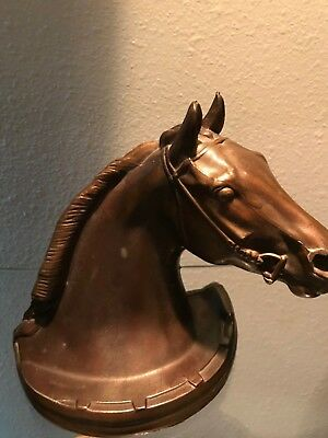 Vintage or Antique? Bronze?  Horse Head Book End               Very Nice!