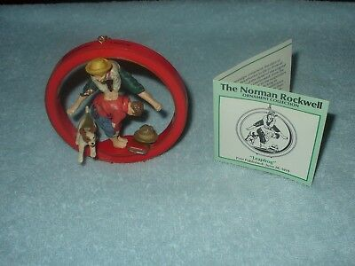 Norman Rockwell Christmas Ornament Collection Leap Frog 1987  Danbury Mint