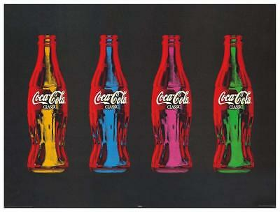 Artopweb Pannelli Decorativi Coca-Cola Pop Art Quadro Legno Multicolore 80x1.8x6