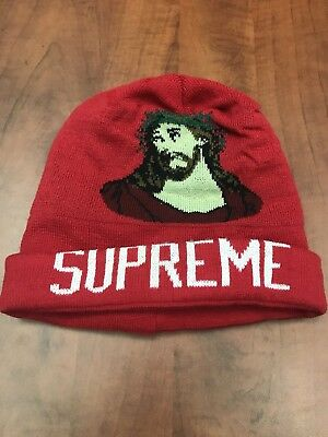 aed3834d2 SUPREME DS JESUS Christ Beanie Brand New FW13 Box Logo DEADSTOCK ...