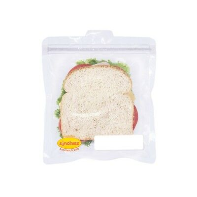 New Sinchies Sandwich Bags Pouch 5 Pack Lunch Kids Zip lock Reusable Childrens
