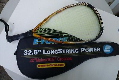 """E-Force Bedlam 170GRacquetball Racquet 22"""" longstring with Cover"""