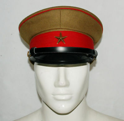 Wwii Ww2 Imperial Japanese Officer's Wool Visor Crusher Cap Cap Hat 58 Cm