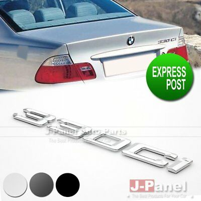 328i REAR TRUNK LETTER EMBLEM BADGE for ALL BMW 3 SERIES F30 F31 E35 3 COLORS