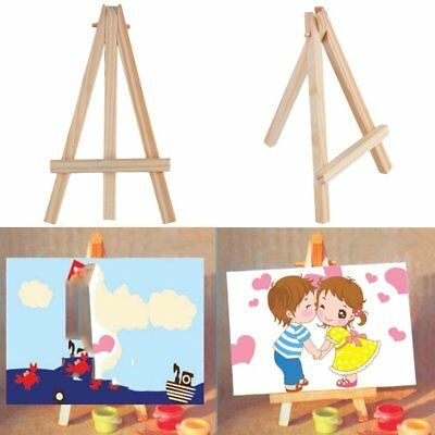 Kids Mini Wooden Easel Artist Art Painting Name Card Stand Display Holder AZ