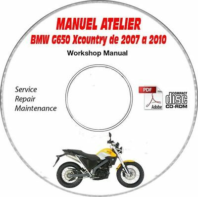 G650 XCountry 07-10 Manuel Atelier CDROM BMW Expédition - Inclus, Support - CD-