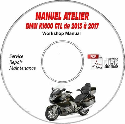 K1600 GTL exclu 13-17 Manuel Atelier CDROM BMW Expédition - Inclus, Support - C