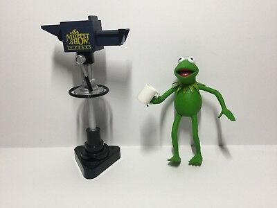 Muppet Show Series 1 Kermit the Frog Action Figure W/ Camera & Coffee Cup Loose