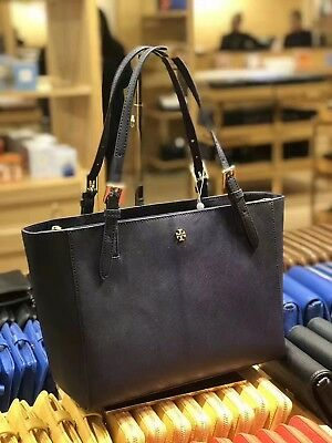 9e9412ef0a28 TORY BURCH EMERSON York Buckle Tote Small Saffiano Leather Shoulder ...