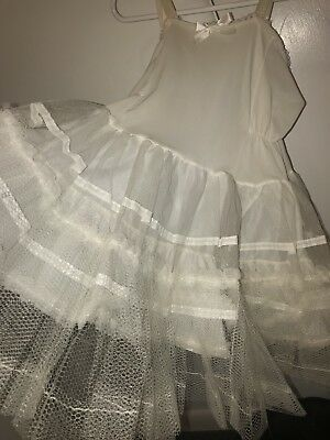 1950s Vintage Full-Slip Petticoat Girl's Size 5, EXCELLENT FIND! Very Rare
