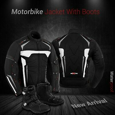 Motorbike Motorcycle Textile Jacket Off Road Leather Racing Boot Touring Shoes