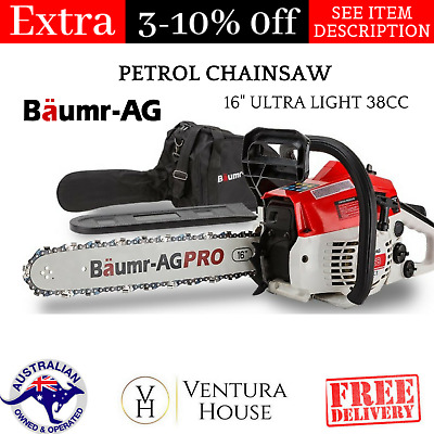 "Baumr-AG 16"" Ultra Light 38cc New Cutter Commercial Petrol Chainsaw Sharpener"
