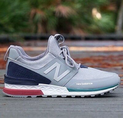 low priced 34f4d 152d4 NEW BALANCE MEN'S 574 Sport Shoes Grey with White - $87.99 ...