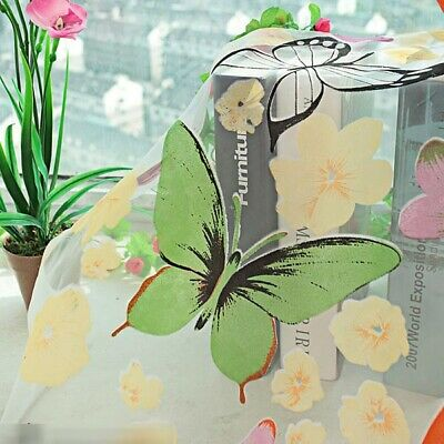 Baby Kids Girl Bedroom Window Butterfly Door Balcony Sheer Panel Fancy Curtains