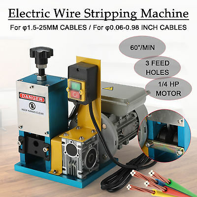 220V Automatic Electric Wire Stripping Machine Scrap Cable Stripper UK Stock