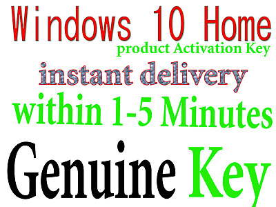 windows 10 Home Key 32/64 bit Genuine activation Key WITHIN 5 Minute Delivery