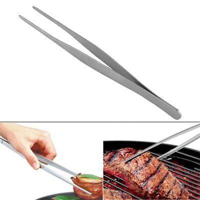 Stainless Steel Long Straight Forceps Tweezers for Medical Purposes and BBQ AZ