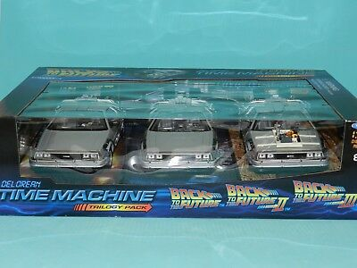 Welly 1/24 Back To The Future Delorean Time Machine Trilogy Pack  MiB
