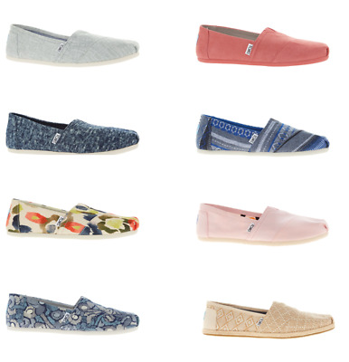 Lady Toms Canvas Barefoot Flat Loafers Comfy Summer  UK 4-7 RRP £ 42