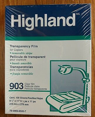 3M 903 Transparency Film with Removable Sensing Stripe 100 Count Sealed