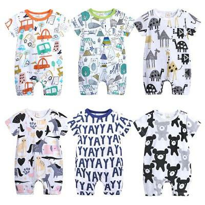 Infant Newborn Baby Boy Girl Jumpsuit Romper Bodysuit Cotton Clothes Outfit Set