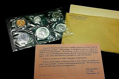 1962 Silver Proof Set original US Mint packages 1 cent to 50 cent U S Coins *