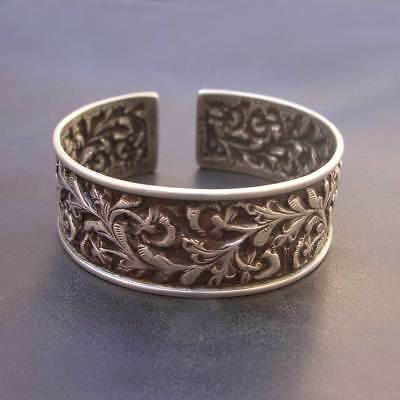 Vintage Antique Old Silver Handmade Tribal Indian Statement Bangle Bracelet