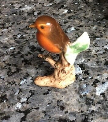 "VTG GOEBEL RED ROBIN BIRD SCULPTURE, FIGURINE, 3"" Cv61 1962"