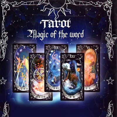 Tarot Cards Game Family Friends Read Mythic Fate Divination Table Games QW