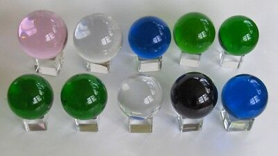 Crystal Balls - Wholesale lot of 10 pieces - mixed colors