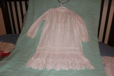 Beautiful Antique Child/Very Large Doll Dress - Tagged Pogue