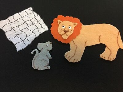 THE LION & The Mouse Fable Felt Flannel Board Story Teacher's Resources