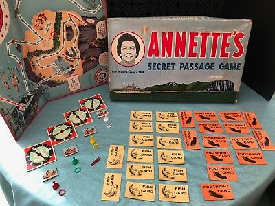 Vintage Walt Disney Annette's Secret Passage Board Game 1958 Parker Brothers