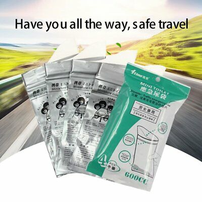 4 Pcs Disposable Large Capacity Super Absorbent Unisex Mini Toilet Urine Bags FO