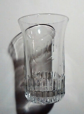 Moxie Soda Fountain Glass Tumbler Ca. 1900 Clear Embossed