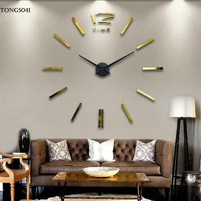 Digital DIY Wall Clock Modern Art Acrylic 3D Mirror Sticker Elegant Home /Office