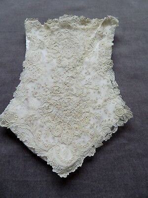 POINT DE GAZE Lace Bag,with Silk Ribbon to Attach as Handle