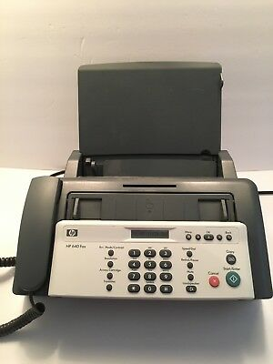 HP 640 Plain Paper Inkjet Fax Machine and User Guide & Original Box