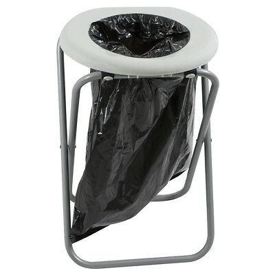 Portable Folding Outdoor Toilet With Hygiene & Sanitation 10 Black Plastic Bags