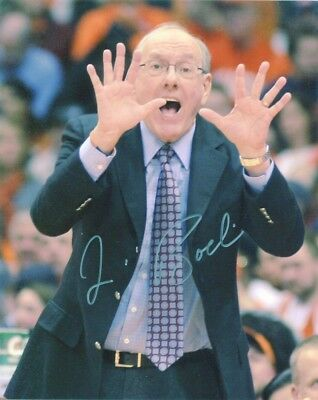 JIM BOEHEIM AUTOGRAPH 8x10 PHOTO AUTO AUTHENTIC SYRACUSE BASKETBALL