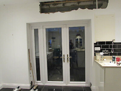 Pvc French Doors And Additional Side Full Length Window Pane Good