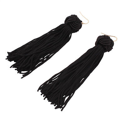 Women Prom Beautiful Tassel Earring  Simple Unique Popular Retro Style Long S4M8