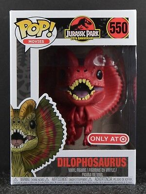 Funko POP Jurassic Park Red Dilophosaurus #550 25th Ann. Target Exclusive