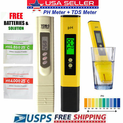 LCD Digital PH Meter+LCD Digital TDS-3 Tester BIG LCD DISPLAY WITH BATTERIES