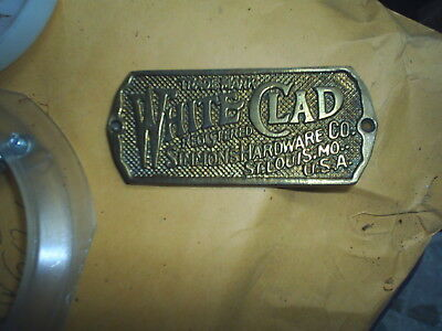 ReCast  Brass - Cast White Clad Ice Box Name Plate nameplate