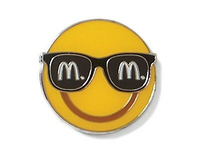McDonalds Cute Lapel Pin Sunglasses Emoji - New
