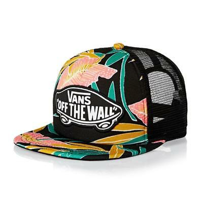 c0303be5 Vans Off The Wall Beach Girl Tropical Trucker Classic Patch Snapback NEW NWT