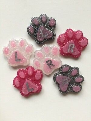 Paw Shape Radiography X-Ray Markers - L&R - choose from 3 colours.