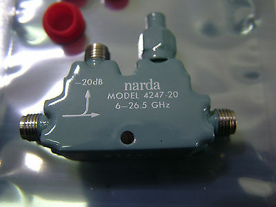 6- 26.5GHz Directional coupler 20dB narda 4247-20 VERY WIDE BAND
